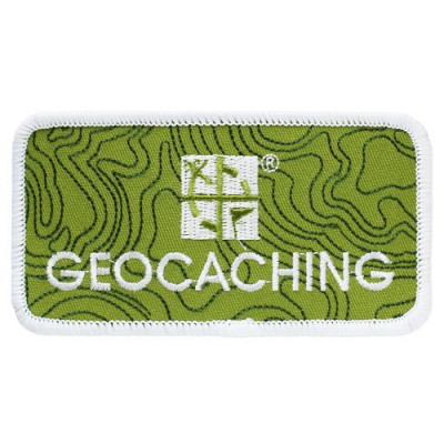 Geocaching Logo Patch med welcro