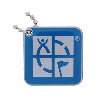 Geocaching Logo Travel Tag- Blue