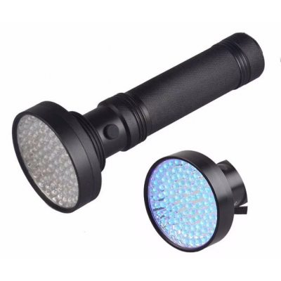 Ultraviolet 395nm UV Flashlight 100 LED (ravlygte)