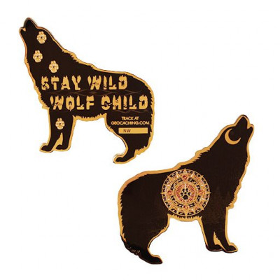 Wolf Geocoin- Black