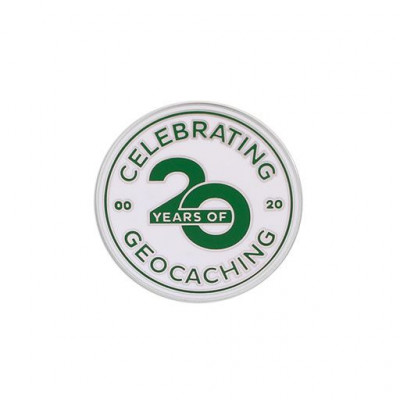 Celebrating 20 Years of Geocaching Pin
