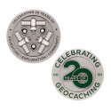 Celebrating 20 Years of Geocaching Geocoin and Trackable...