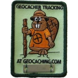 Bæver Geocacher Tracking patch - BLÅ t-shirt