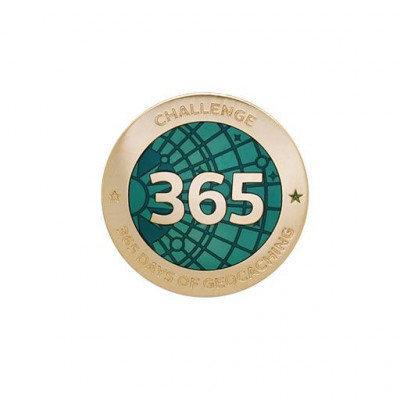 Challenges Pin - 365 Days of Geocaching