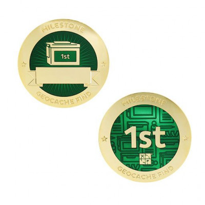 Milestone Geocoin and Tag Set - 1st Find