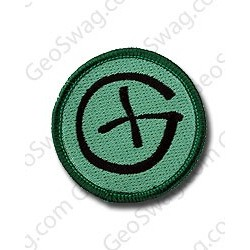 G geocaching patch grøn/sort