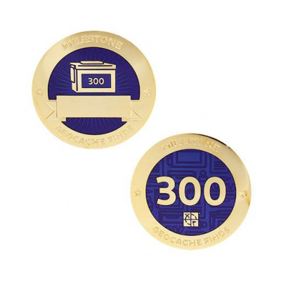 Milestone Geocoin and Tag Set - 300 Finds