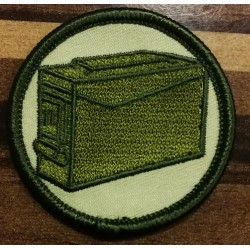Geocaching ammoboks patch grøn