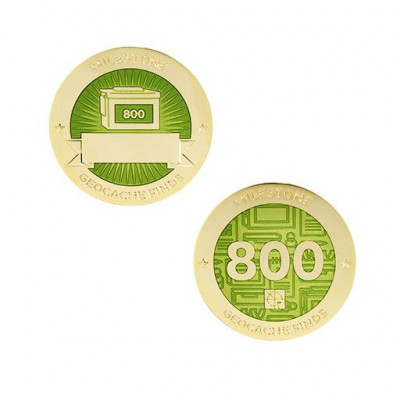 Milestone Geocoin and Tag Set - 800 Finds