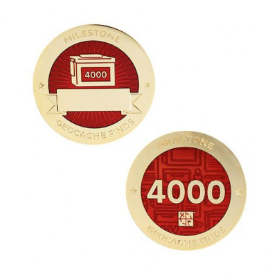 Milestone Geocoin and Tag Set - 4000 Finds