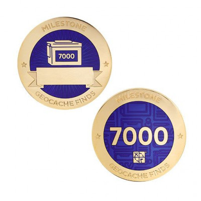 Milestone Geocoin and Tag Set - 7000 Finds