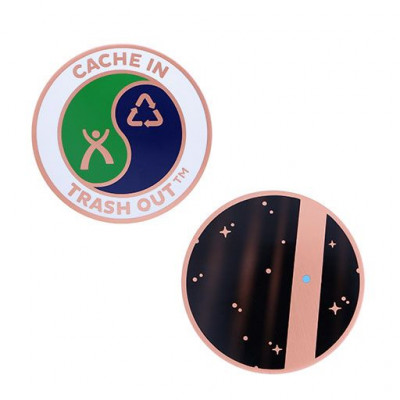 2020 CITO Full Size Geocoin- Tiny Blue Dot