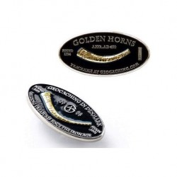 Golden Horns geocoin sølv -...