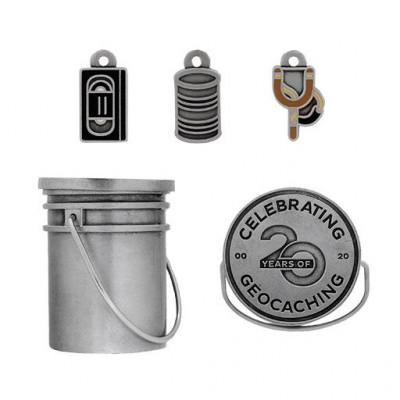 Original Stash Bucket Geocoin Set - 4 coins