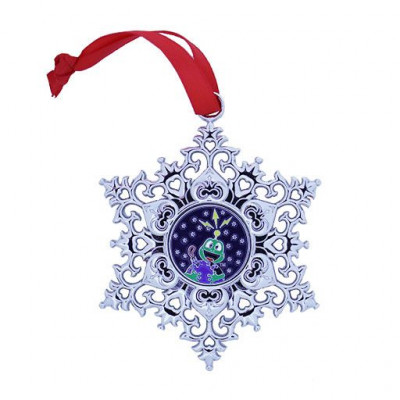 Snowflake Ornament Geocoin - Earth 2020