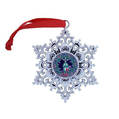 Snowflake Ornament Geocoin - Wreath   2020