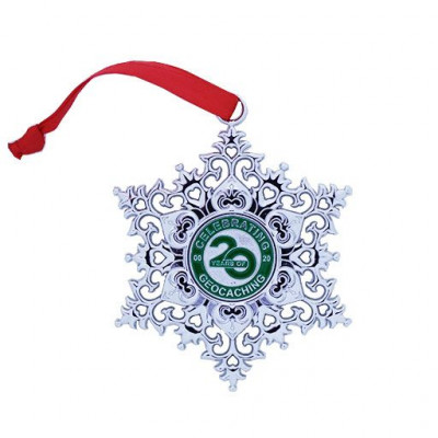 Snowflake Ornament Geocoin - Celebrating 20 Years of...