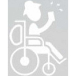 Handicachng - Mand i rullestol Geocaching Decal