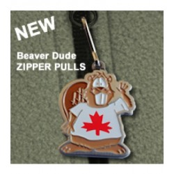 Beaver Dude (Canadian Cacher) Zipper Pull