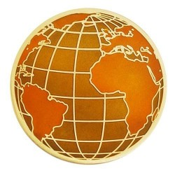 Earth Day geocoin Antique Gold