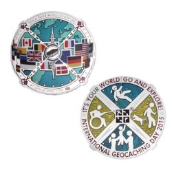 International Geocaching Day geocoin 2015