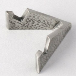 Geocoin holder triangle stand, antique silver