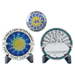 24 Hour - 48 Caches Geo-Achievement® Award Set