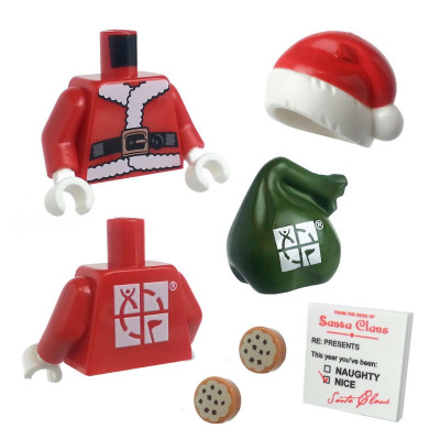 LEGO Santa Torso and Accessory Kit for 2 inch Figures