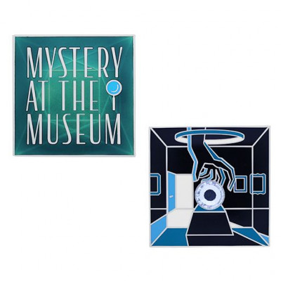 Mystery at the Museum Geocoin og Tag Set