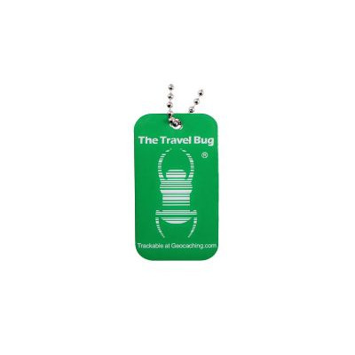 Geocaching QR Travel Bug - Grøn (Glow in the dark)