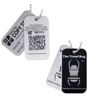 Geocaching QR Travel Bug - Sort (Glow in the dark)
