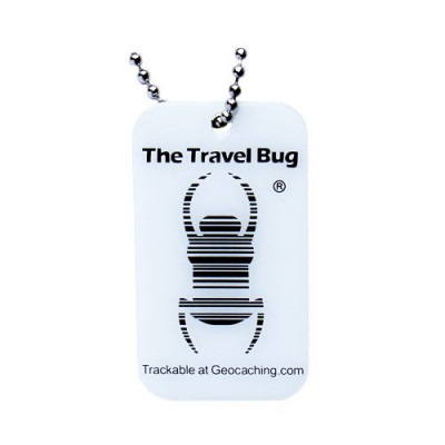 Geocaching QR Travel Bug - (Glow in the dark)