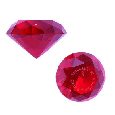 Trackable GeoGems™ - Red/Rød Ruby