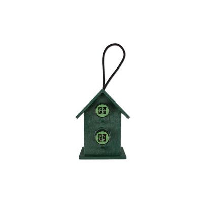 Mini Double Birdhouse Cache Container med logstrimmel