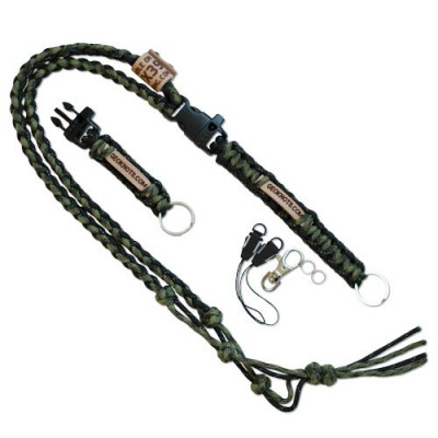 The Ultimate Trackable Lanyard - olive/moss/Black Reflective