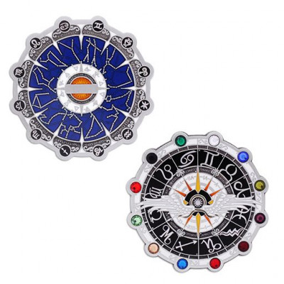Zodiac Final Geocoin and Companion Tag Set
